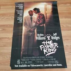 """The Fisher King 1991 Robin Williams Drama Movie Posters 27"""" X 40"""" Original Used"""
