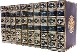 GROTE George - A History of Greece - 10 vols. - IN A FINE FULL LEATHER BINDING
