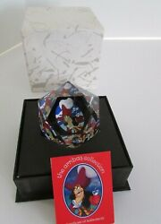 Crystal Arribas Collection Captian Hook Paperweight Limited Mint W/coa