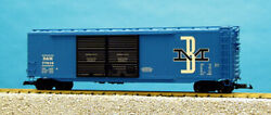 Usa Trains G Scale 50 Ft Double Door Box Car R19317b Boston And Maine - Blue