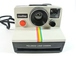 Vintage Polaroid Sx-70 One Step Rainbow Instant Land Camera Tested Working Vgc