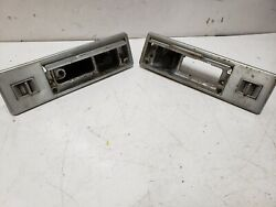 1969 70 Cadillac Deville Fleetwood Rear Switch Plate Ashtray Pair