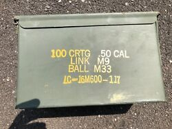 4 Empty Ammo Cans - 50 CAL