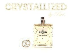 No. 5 Crystallized Perfume Bottle Eau Premiere W/ Crystals 1.2