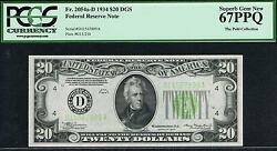 $20 1934 Cleveland LGS FRN. PCGS 67 PPQ. Top Pop. 20. Finest Known
