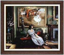 Harry Mccormick Suze With Degas Original Giclee On Canvas Signed Portrait Art