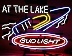 New Party At The Lake Boat Speedboat Neon Light Sign 24quot;x15quot; Beer Bar Lamp