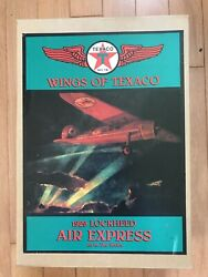 Wings Of Texaco 1929 Lockheed Air Express Airplane 1st In The Series In Box- New