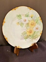 Vintage Hutschenreuther Lorene Germany Handpainted Floral Plate 8 1/4 Signed