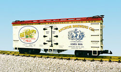 Usa Trains G Scale R16367 Old Foghorn Ale - Cream/red Reefer