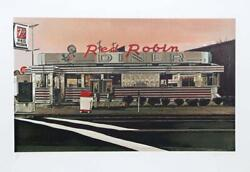 John Baeder Red Robin 1980 Serigraph Pencil Signed And Numbered