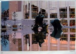 Fran Bull Lincoln Center, Dusk, Silkscreen Pencil Signed And Numbered