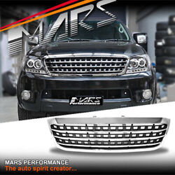 Chrome Black Amg Style Front Bumper Grill Grille For Toyota Hilux Vigo 05-11 Ute