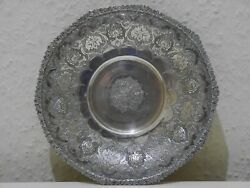 Solid Silver Persian Plate/saucer