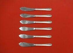 Blossom Time By International Sterling Silver Trout Knife Set 6pc Custom 7 1/2