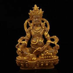 9 Chinese Old Antique Be Unearthed Crystal Gilt Mammon Buddha Statue