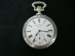 Antique Doxa Horse Riding Scene Large Open Face Pocket Watch .