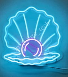 New Pearl Shell Neon Light Sign 14 Lamp Beer Bar Acrylic Real Glass
