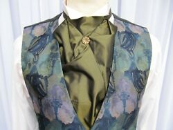 New Menand039s Victorian Edwardian Style Pre Tied Cravat. Wedding Theatre Manycolours
