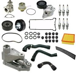 For Bmw E46 M3 3.2l L6 Water Pump And Hoses Thermostat Belts And Spark Plugs Kit