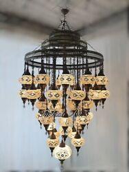 Turkish Mosaic Chandelier With 51 Large Globes Id 153