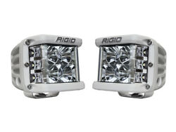 Rigid Industries D-ss Pro Flood Pair Led Side Shooter White Finish 862113