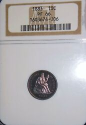1883 10c Proof Liberty Seated Dime Ngc Pf 66 Rainbow Color Proof