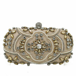Elegant Women Evening Bags Beaded Clutch Handbags Bridal Wedding Party Purses $20.99