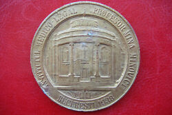 Rare Brothers Minovici 1938 Bucuresti Morgue Brass Pattern Or Periode Fake Medal