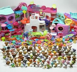 Huge Littlest Pet Shop Lot 280 Pets and Accessories LPS Dogs Cats