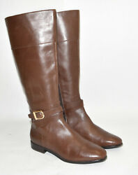 New Cole Haan Catskills Boot Chestnut Brown Leather Wide Calf Size 10.5 W01148