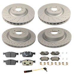 For Mercedes W166 Gl350 3.0l Front And Rear Disc Brake Rotors Pads And Sensors Kit