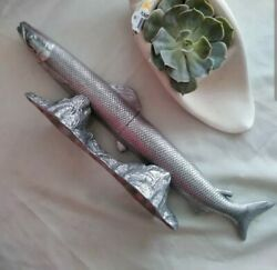 Very Rare Arthur Court Carving Set Long Fish Pike - Mint Condition