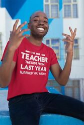 Menand039s Funny Teacher T Shirt Iand039m Teacher Kids Warned You About T Shirt Funny Teac