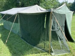 1940s Wwii Ww2 Us Military Waxed Canvas Tent I Goldberg 9x12 Ranch Officers
