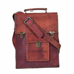 Briefcase Document Satchel Bag Genuine almost perfect Leather Business Messenger $50.00