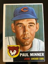 1953 Topps Paul Minner 92 Chicago Cubs