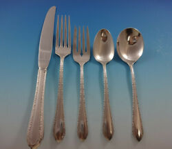 Wild Flower By Royal Crest Sterling Silver Flatware Set Service 41 Pieces