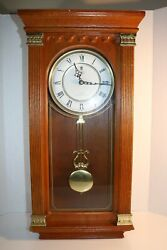 Crown Court Quartz Westminster Chime Wall Clock 24 1/2 Tall 12 Wide Pre-onwed