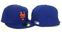 New Era Royal New York Mets Official On-field Vintage Gray Bottom Fitted Hat