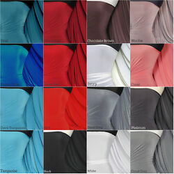Silk Touch 4 Way Stretch Jersey Lycra Fabric Material Q53 Fee Pandp