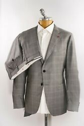 New Isaia Suit Wool Silk Size 46 Us 56 Eu 2 Two Buttons Isaa33