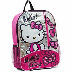 Hello Kitty Full Size Backpack school kids girl teen large 16quot; inch $19.95