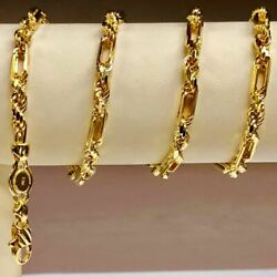 14kt Yellow Gold 22 4.3 Mm Diamond Cut Figarope Chain/necklace 28 Grams