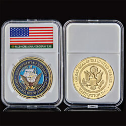 Us Department Of Navy Washington D.c Great Seal Of Usa Military Veteran Coin
