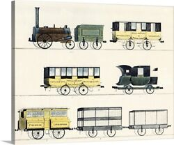 The Liverpool And Manchester Railway Canvas Wall Art Print Train Home Decor