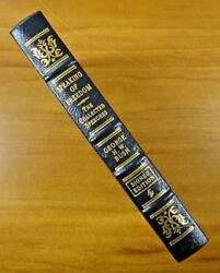 President George H. W. Bush Signed Easton Press Leather Bound Collectors Ed Book