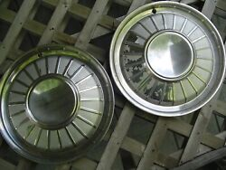 Two 1961 1962 Ford Thunderbird T Bird Hubcaps Wheel Covers Center Cap Vintage