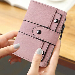 Leather Wallet for Women Ladies Credit Card Holder Bifold Purse Clutch Handbag $10.96