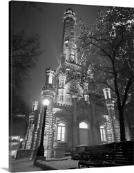 Water Tower Chicago Il Canvas Wall Art Print, Chicago Home Decor